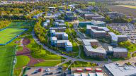 Aerial view of the Edge Hill Campus